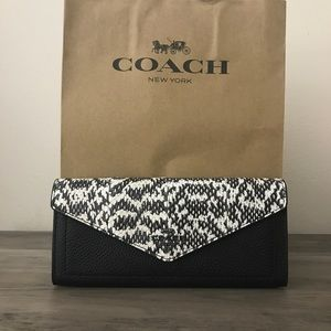 Coach Snakeskin Wallet NWT